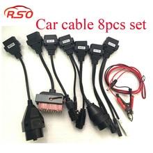 Professional Auto Diagnostic interface Car cables 8 pcs Full Set for TCS cdp pro plus/MVD/WOW/Kess free ship