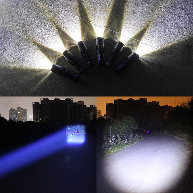 Lanternas e Lanternas mini zoomable lanterna tocha xml Distância de Iluminação : 200-500 m