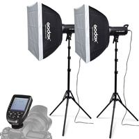 2X Godox SK400II 400W Studio Flash Strobe+Softboxes +Light Stand +Xpro N Trigger Kit for Nikon DSLR Camera