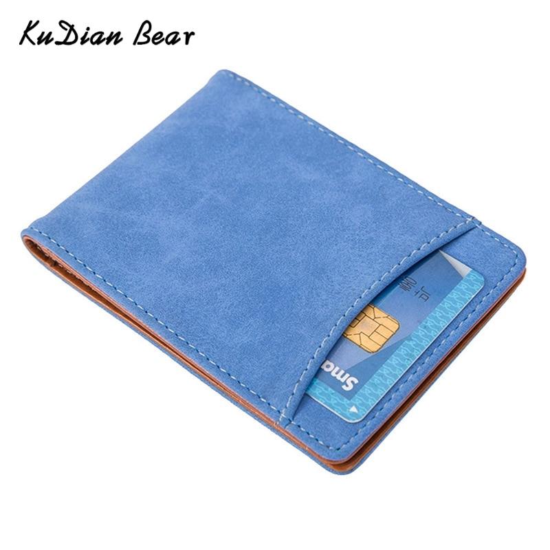 KUDIAN BEAR मनी क्लिप्स वॉलेट्स मैग्नेट क्रेडिट कार्ड आईडी धारक पुरुष वॉलेट क्लैम्प्स फॉर मनी होल्डर कार्टरस Hombre-- BID148 PM49