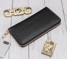 Nuleez men wallet women and  men purse clutch bag genuine  leather bag classic new promotion