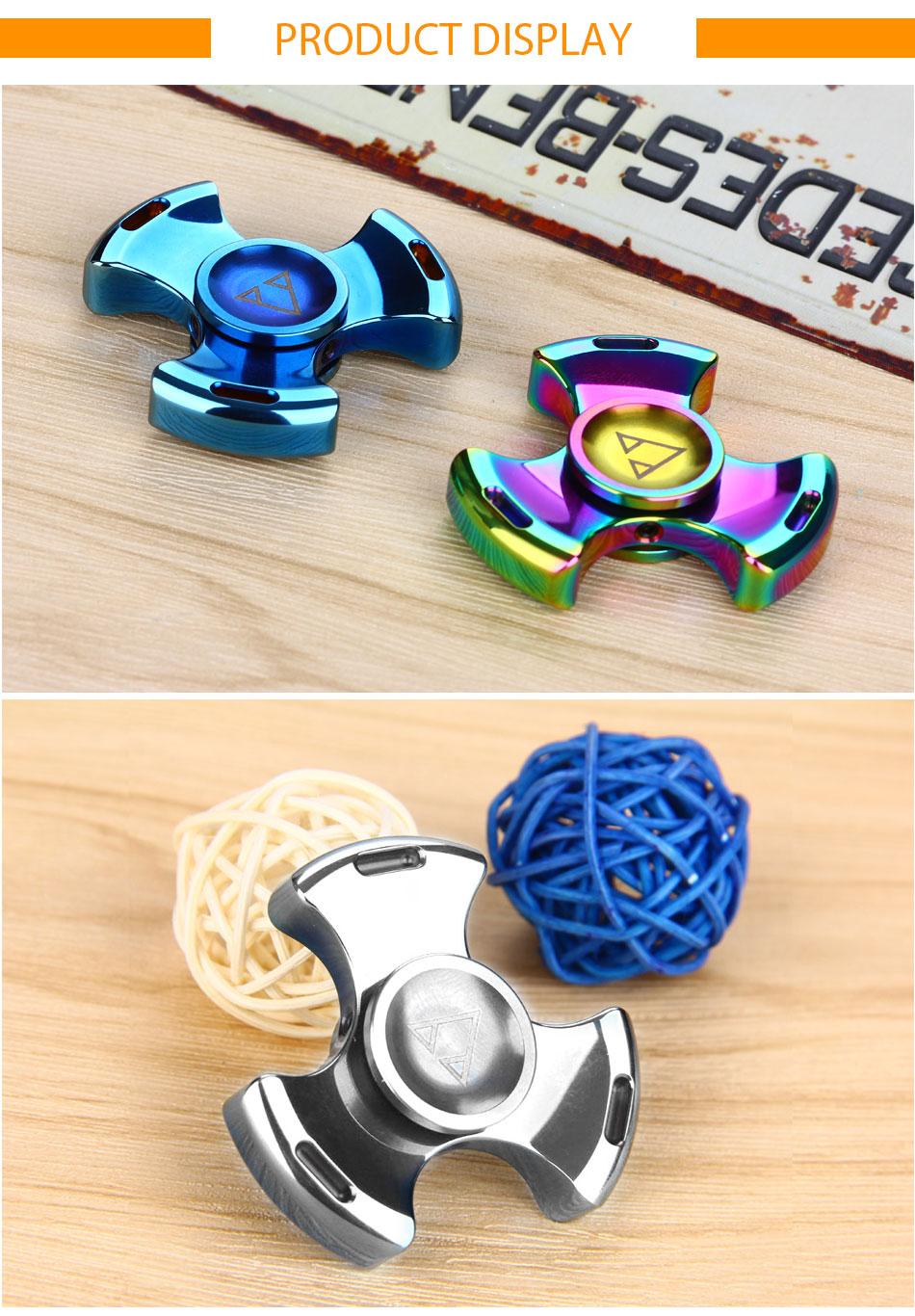 Do Dower Tri-spinner Fidget Spinner Steel Hand Spinner 688 Hybrid Ceramic Bearing Educational Toys Spinner Hand Anti Stress Toy
