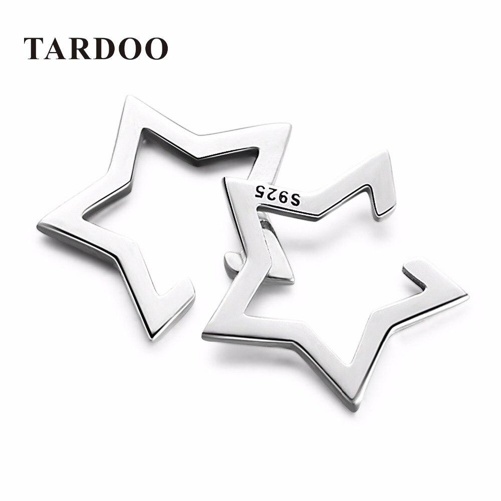 Tardoo Brand Cute Pentagram Star Clip Earrings for Women 925 Sterling Silver Statement Classic Simple Earrings Fine Jewelry