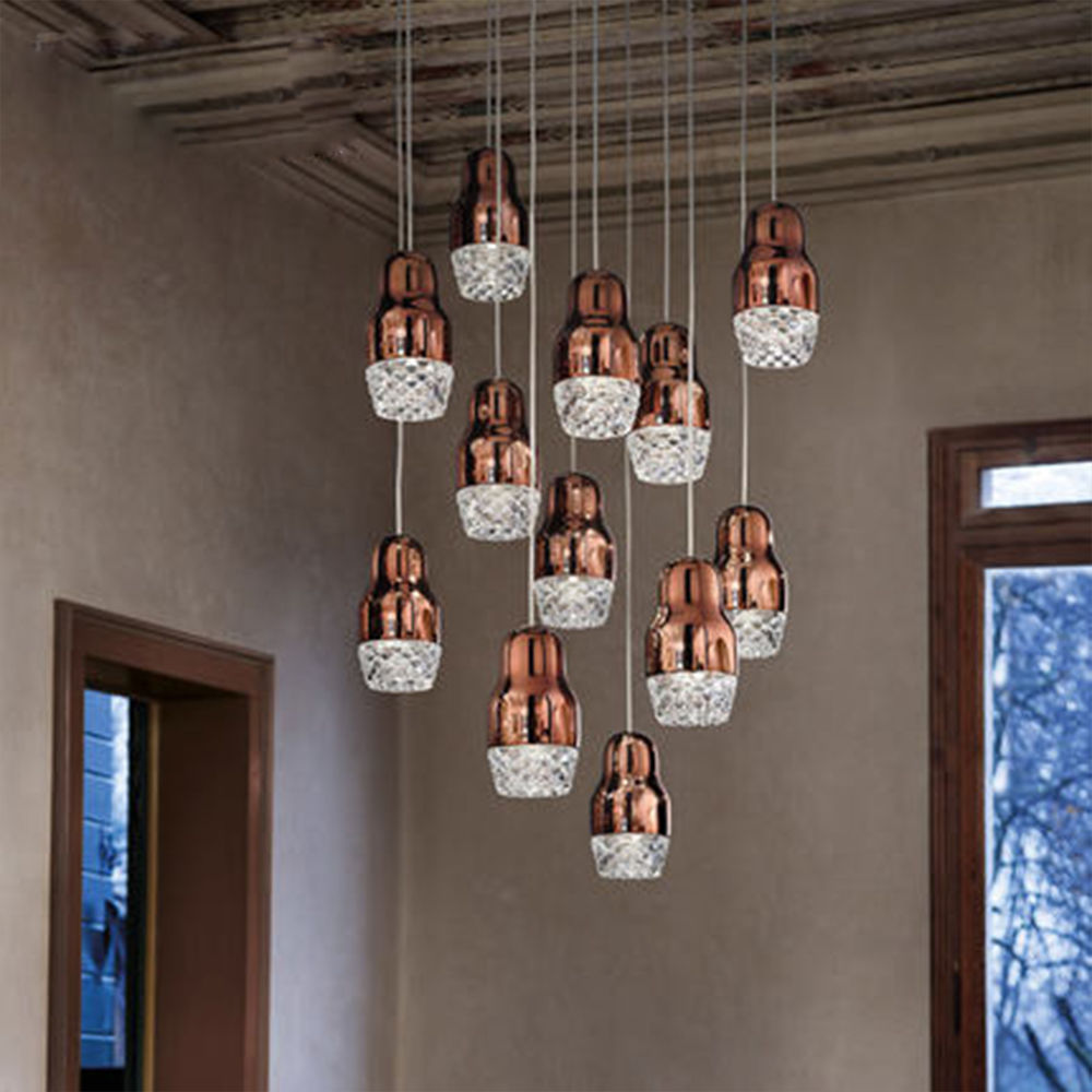 ФОТО 3 Colors Vintage Industrial Glass Light Chandelier Loft Ceiling Lamp Droplight