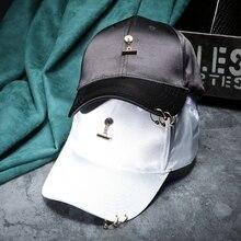 2017 Spring Summer Fashion Women Pendant Satin Baseball Cap Boys Ring Baseball Hats Casquette For Men Gorras