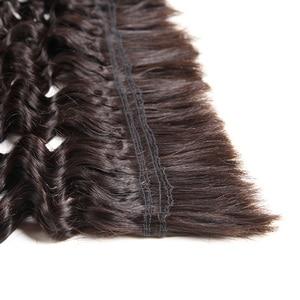 Image 2 - Rebecca 4 Bundles Deals Human Braiding Hair Bulk Braiding Remy Indian Deep Wave Hair Extension Crochet Free Shipping
