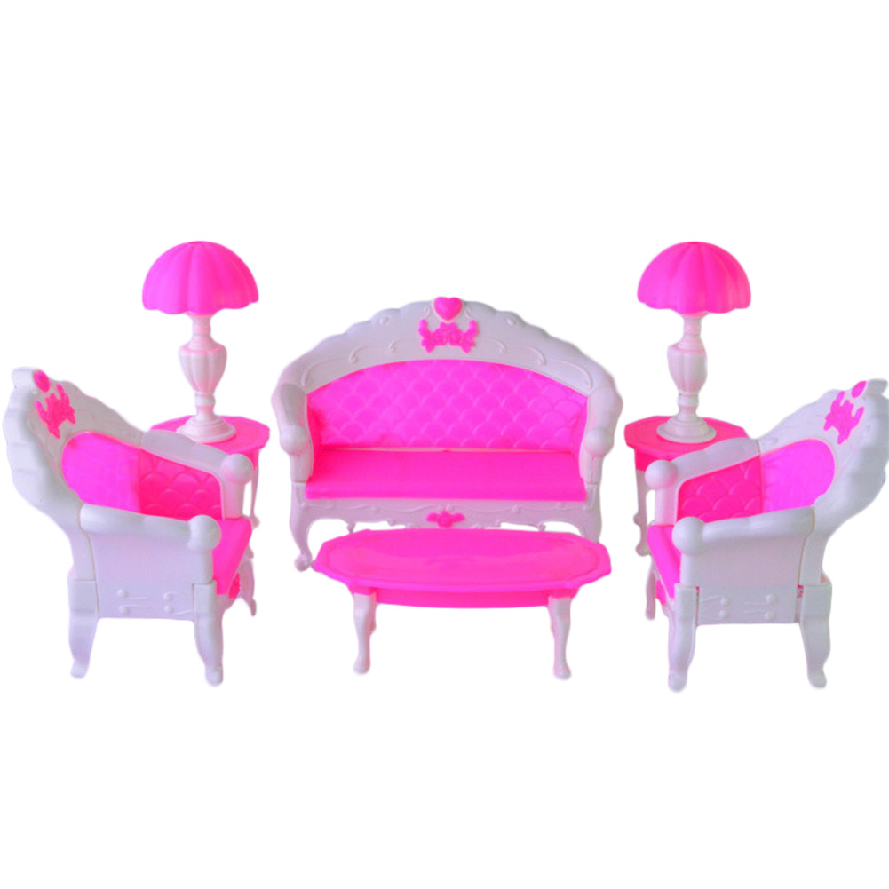 LeadingStar 2017 6PCS SET Barbie Size Dollhouse Living Room Grand Parlour Sofa Set Best New Year Gifts for Children Gifts zk30 gentleman in the parlour