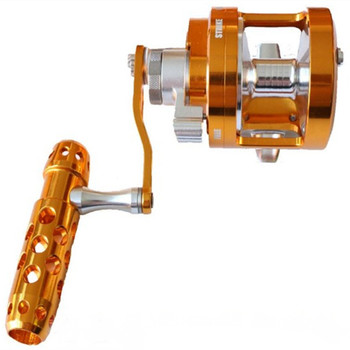 Saltwater Trolling wheel Aluminum CNC Machined Series Fishing Reel Left-Hand 7BB+1RB fishing force 30kg