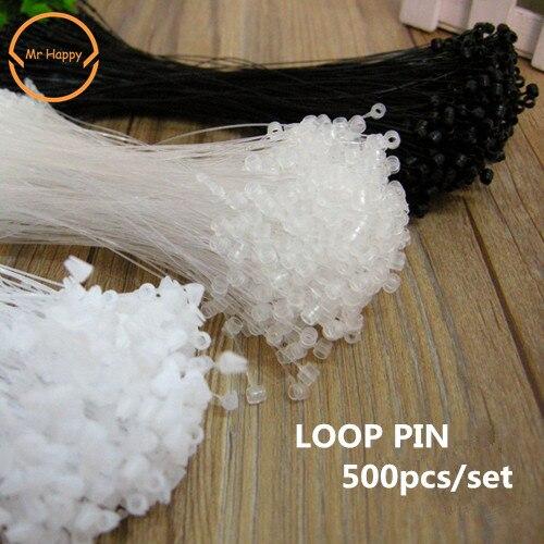 High Quality 500pcs Hot Plastic Snap Lock Pins Security Loop Tag Fasteners Price Tag Fastener