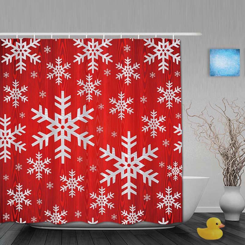 Weihnachten Decor Badezimmer Dusche Vorhänge Winter Schnee ...
