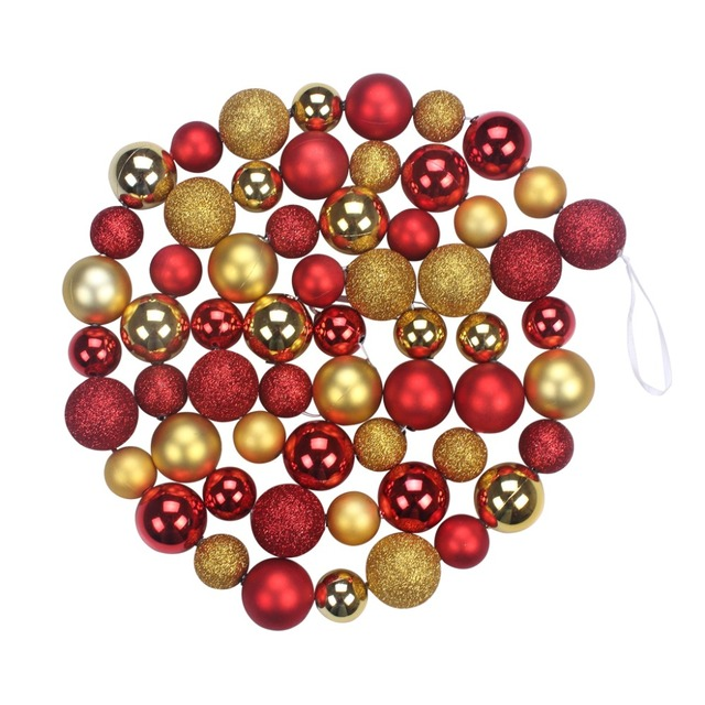 Christmas Decorative Balls String With Golden Red Balls