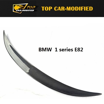 Free Shipping Carbon Fiber Trunk Spoiler For BMW 1 series M E82 E88 Rear Spoiler GT Wing image