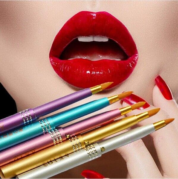 2016 New arrival!!!Women Lip Brush MakeUp Portable Retractable Cosmetic Lip Brush Lipstick Gloss Beauty Tools