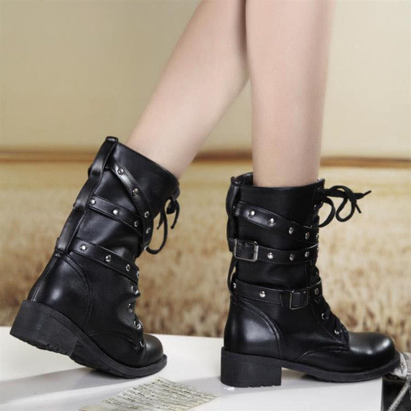 Aliexpress.com : Buy 35 42 Women Boots Motorcycle Boots Ladies ...