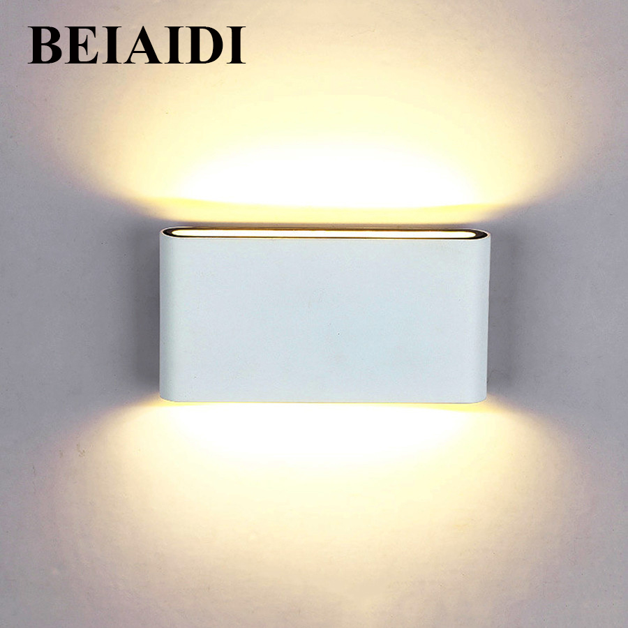 Thrisdar 12W Outdoor COB Led Wall Lamp IP65 Waterproof Aluminum Up and Down Porch Garden Corridor Aisle Sconce Wall Light ...