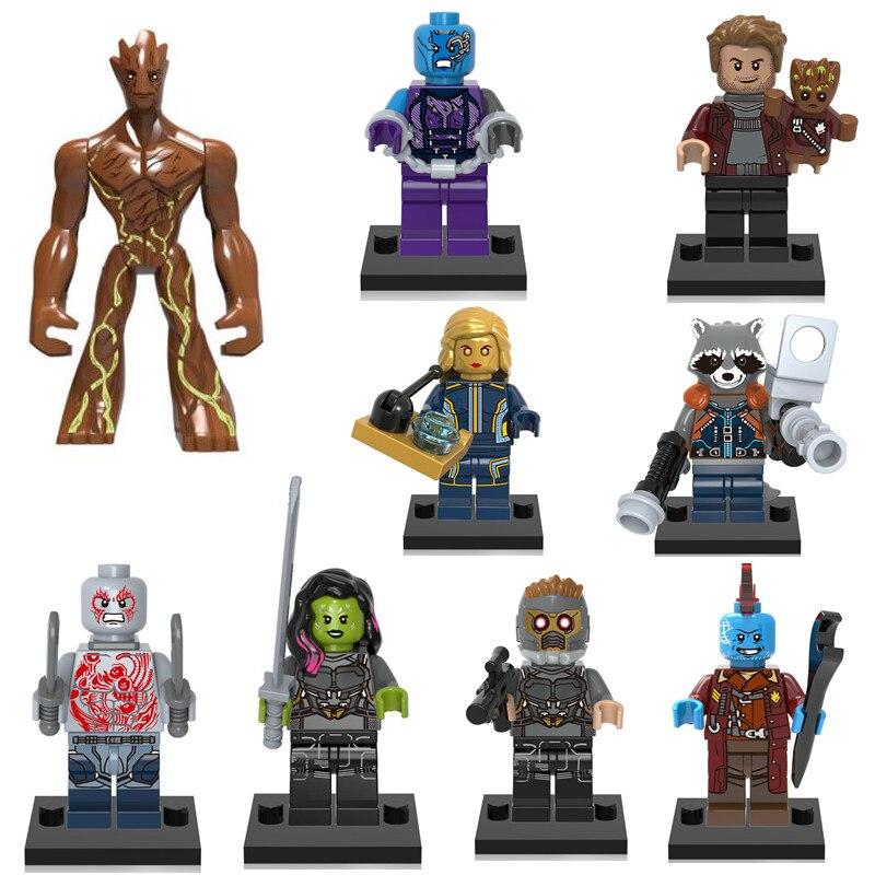 Super Heroes Guardians Of The Galaxy Vol. 2 Rocket Yondu Building Blocks Toys For Children Tree Man Ronan Rocket Raccoon Star
