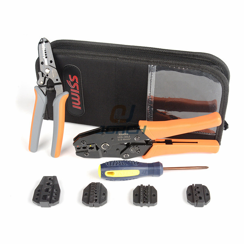 4 In 1 Multi tools Wire Crimper Tools Kit Engineering Ratchet Terminal Crimping Crimper Plier Wire