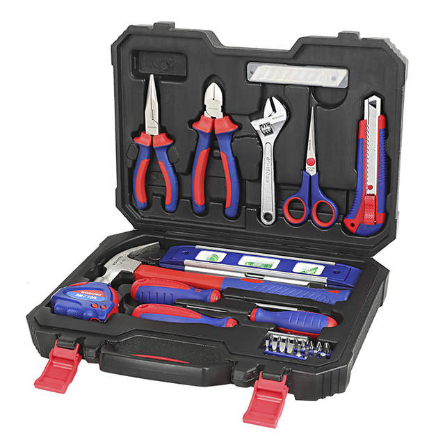 WORKPRO 28PC Home Tool Set Household Tool Kits Screwdrivers Pliers Scissor Knife Hammer 2