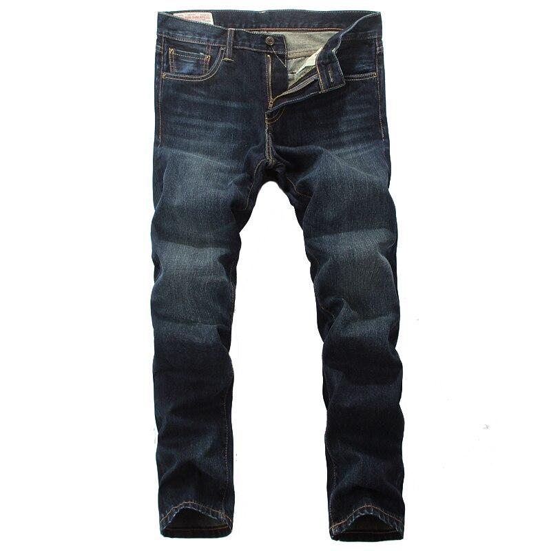 Vintage Men`s Jeans High Quality Slim Straight Fit Simple elegant Style Tops Workmanship European Retro Jeans Men Pants