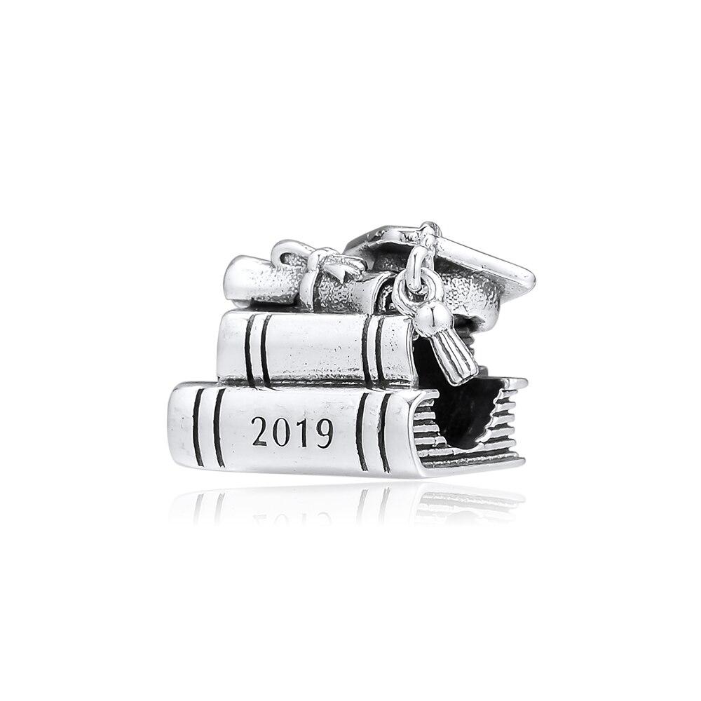 CKK cuenta dije de plata esterlina 925 encantos joyería Original tapa, libro y perlas de desplazamiento se adapta a la fabricación de joyas de la pulsera de Pandora BAMOER nueva colección 100% Plata de Ley 925 Animal mascota perro gato huellas anillo de dedo para mujer compromiso joyería SCR366