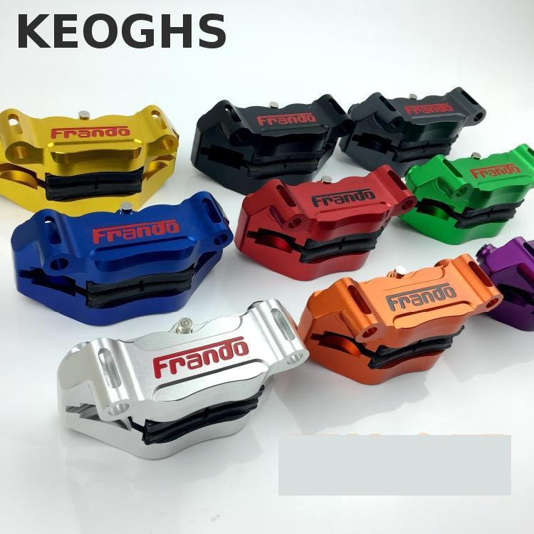Keoghs Motorcycle Brake Caliper 100mm Hole To Hole Center 4 Piston Cnc Aluminum Hf2 For Honda Yamaha Kawasaki Suzuki Modify keoghs motorcycle hydraulic brake system 4 piston 100mm hf2 brake caliper 260mm brake disc for yamaha scooter cygnus x modify