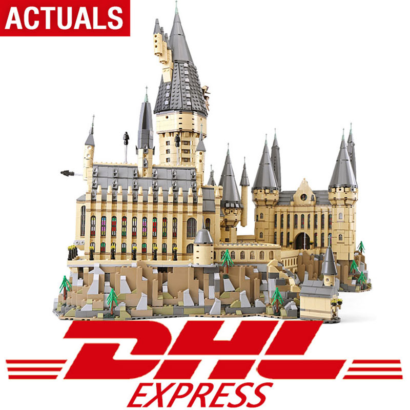 DHL 16060 Movie Series Compatible legoing 71043 The Hogwarts Castle Set Building Blocks Bricks Assembly kids Toys Christmas Gift telecool 536 pcs knight series lion king castle 1010 building blocks brick set toy for kids christmas gift