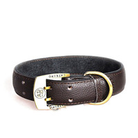The Real Cow Leather Collars Good Quality Brown Collar For Large Dog Pet Pet Accesorios Para