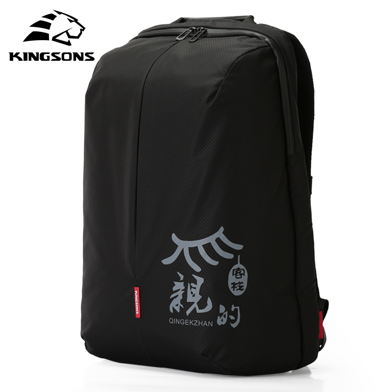 Kingsons Laptop Backpack 15.6 Inch High Quality Waterproof Nylon Bags Business Dayback Men and Women's Knapsack-in Backpacks from Luggage & Bags    1