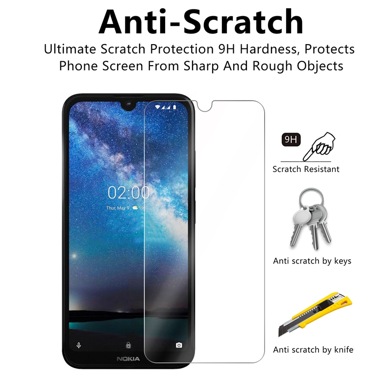 Image 4 - Screen Protector For Nokia 2.2 Glass 9H Hardness Tempered Glass For Nokia 2.2 Phone Glass For Nokia 2.2 2019 Protective Film-in Phone Screen Protectors from Cellphones & Telecommunications