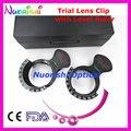 Tc206s optometria Optical lente oftálmica julgamento de quadros de clipe com nível régua por preto Hard Case plástico embalado frete grátis