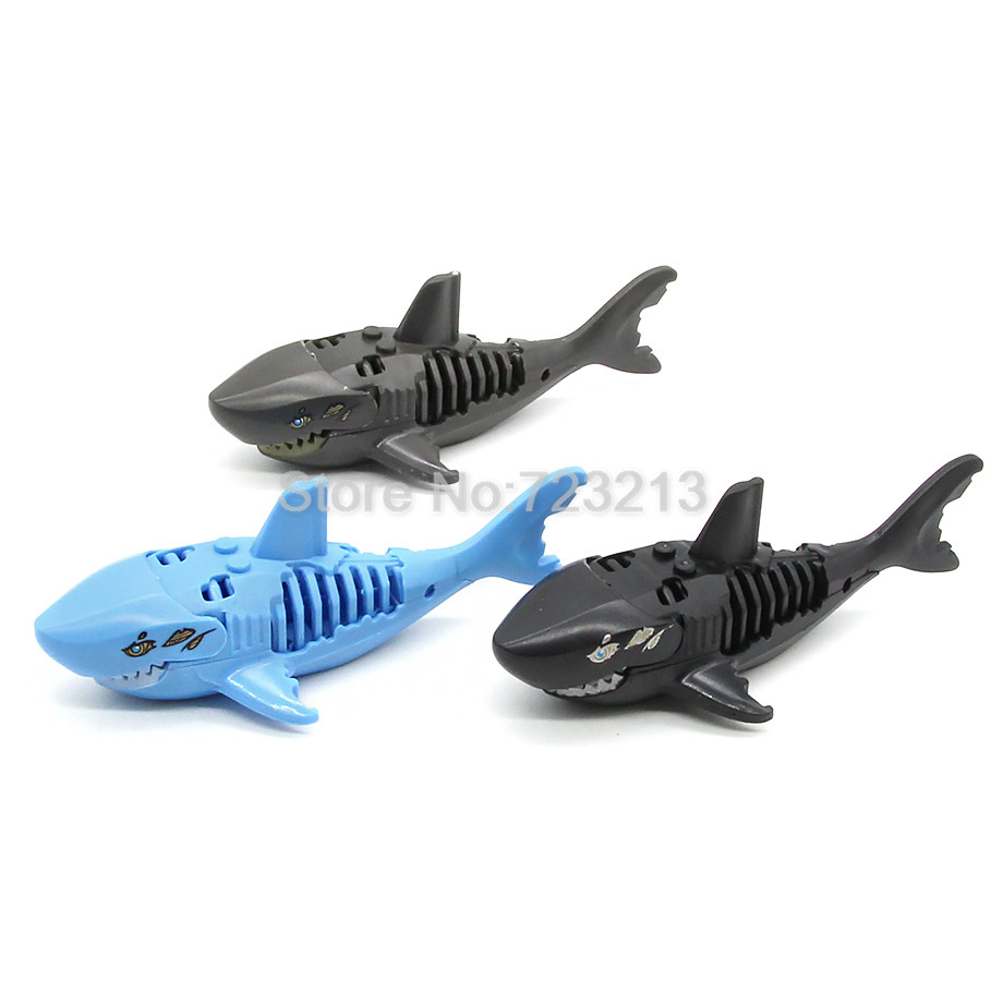Single Sale Ghost Zombie Shark Block Pirates of the Caribbean Jack Building Blocks Set Model Bricks Toys for Children ...