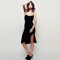 Discounted dress lady dress new summer straps invisible zipper long sexy halter dress women's clothing