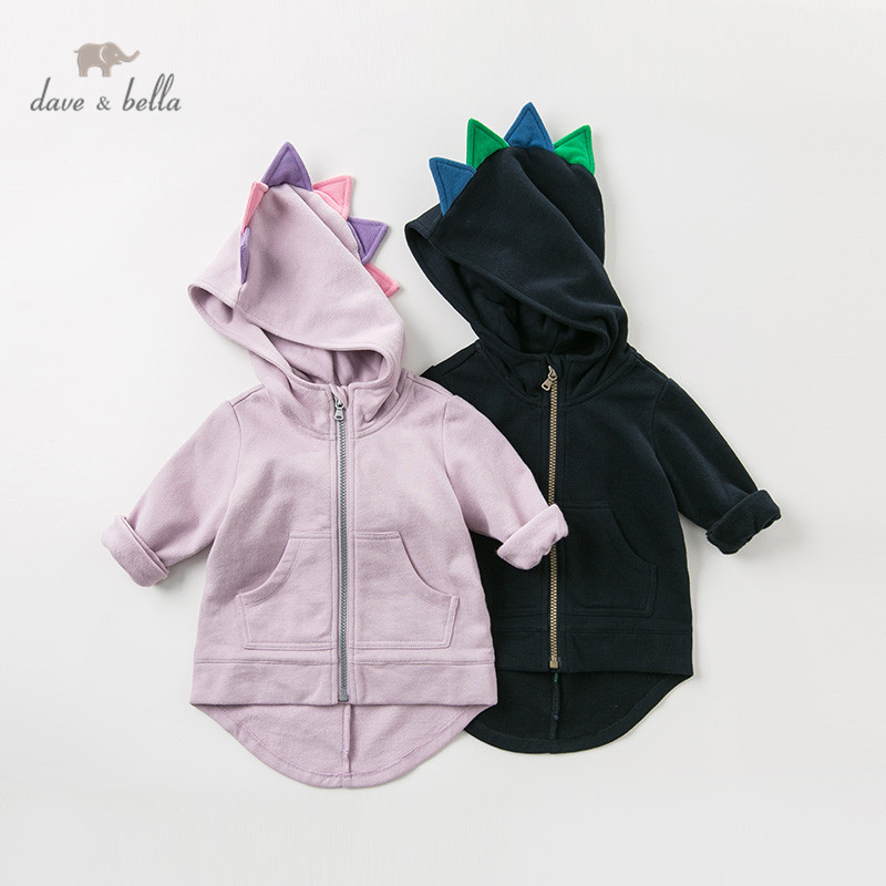 DB11858 dave bella autumn spring unisex baby lovely jacket children fashion outerwear kids coat