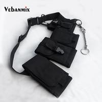 Hip Hop Chest Bag for Men Black Fashion Streetwear Chest Rig Fanny Pack Multi pocket Travel Phone Belt Bag Pouch Waist Packs