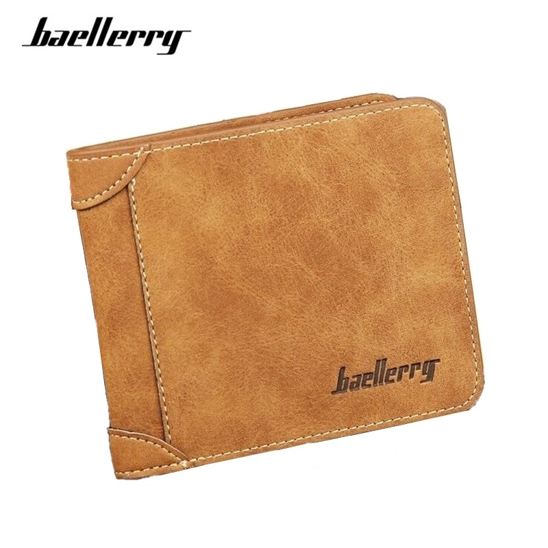 High Quality Men Wallets Vintage PU Leather Wallets Male Vintage Designer Purse Money Bag Credit Card Holder Short Wallet K041