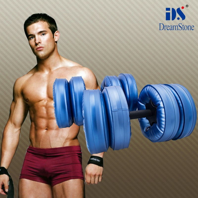 25kg Men Arm Muscle Fitness Dumbbell Water-Filled Adjustable Environment Friendly Training Portable Travel Dumbbells