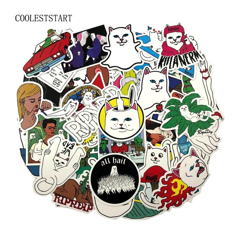 50pcs Cute Cat Lord Nermal Car Styling Funny Cool Bomb Waterproof Graffiti Doodle Sticker For Skateboard Fashion Toy Sticker