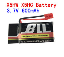 Syma X5HW X5HC 3.7V 600mAh Battery RC Drone Quadcopter Spare Parts Set Li-po Battery 3.7V 25C 600mah