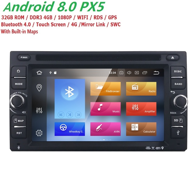 4G+32G Android 8.0 Auto Radio 8/OctaCore 6.2Inch 2DIN Universal Car DVD player GPS Stereo Audio Head unit Support DAB DVR OBD BT