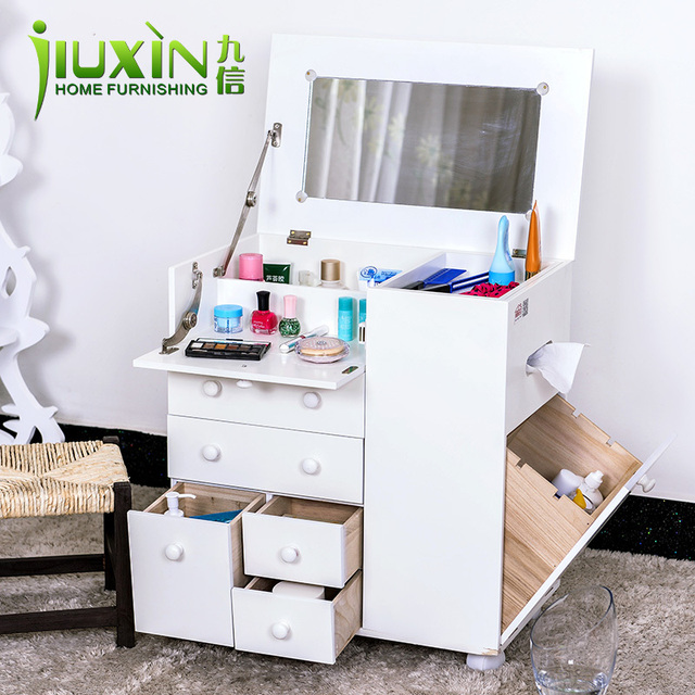 Ordinaire Japanese Small Apartment Wood White Makeup Counter Long 50 * W 30 * H 80cm  Simple
