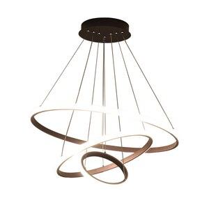 Image 5 - Plafonnier suspendu au design moderne, couleur café, blanc/noir, luminaire dintérieur, idéal pour un salon, LED, AC85 265V