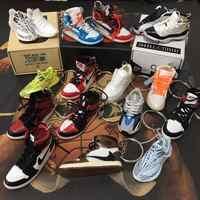 Personality DIY Air Jordan Generation AIR JORDAN1-13 Stereo 3D Sneaker Model Keychain For Gift