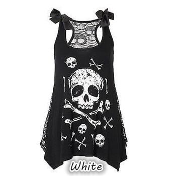 3D Skull Print A-line Dress 1