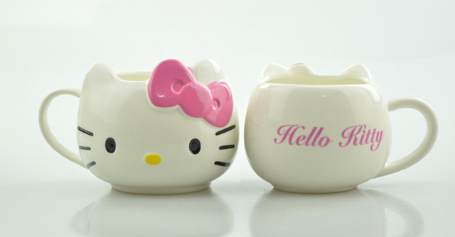 Hot Funny Cat Tea Cups and Coffee Mugs For Home and Office, Hello Kitty Mugs As Christmas Gift For Daughter Girl Friend 3