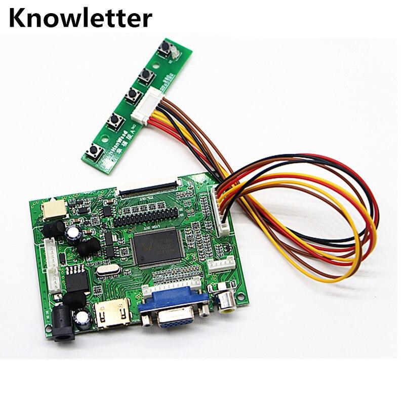 HDMI+VGA+ 2AVinput Sources A/D LCD Monitor Control Board For AT065TN14 AT070TN90 / AT070TN92 AT070TN93 / HDMI AT070TN94