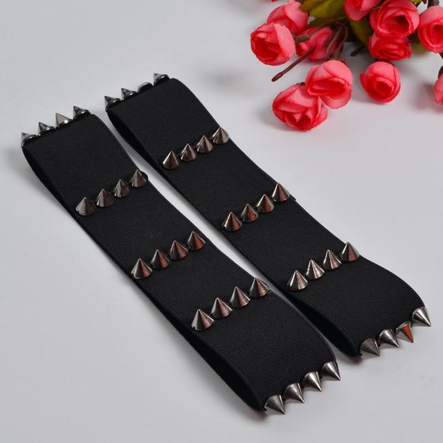 Gothic Kawaii PAIR spiked garters elastic garters BDSM grunge punk fetish bondage garter alternative sexy witch spiked garter 6