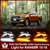1Set Car LED Daytime Running Lights DRL Auto LED White Yellow Fog Lamp With Yellow Turn