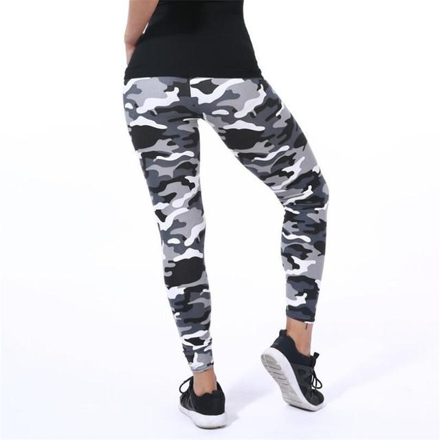 2020 Womens for leggins Graffiti Style Slim Stretch Trouser Army Green Leggings Deportes Pants