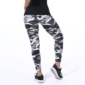 YSDNCHI 2020 Camouflage Womens for leggins Graffiti Style Slim Stretch Trouser Army Green Leggings Deportes Pants K085
