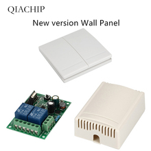 QIACHIP 433Mhz 220V 2CH Wireless Remote Control Switches Relay Receiver Module & Controls Wall Panel RF Transmitter